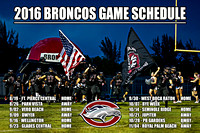 2016 High School Football Game Schedule Posters